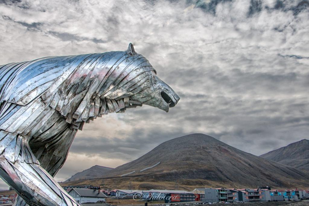 Longyearbyen's silver polar bear