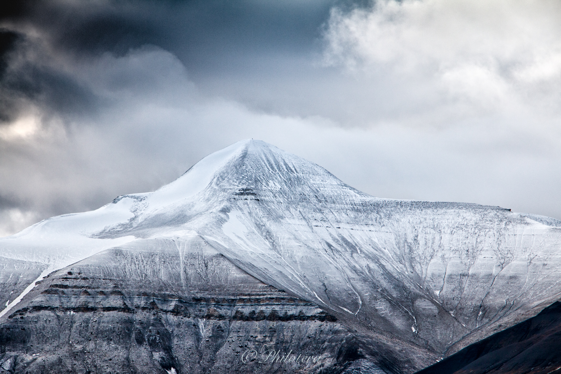 Snow Covered Mountain Svalbard