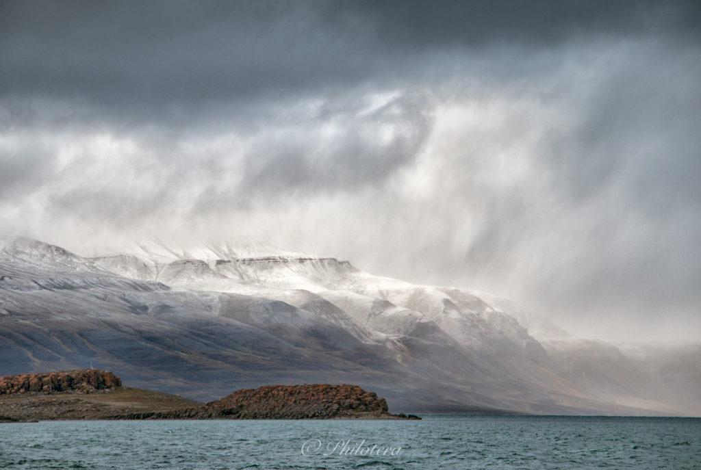 Mountains in Isfjorden Svalbard
