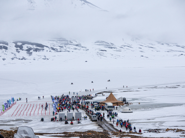 Lining up for the northernmost ski marathon in Svalbard