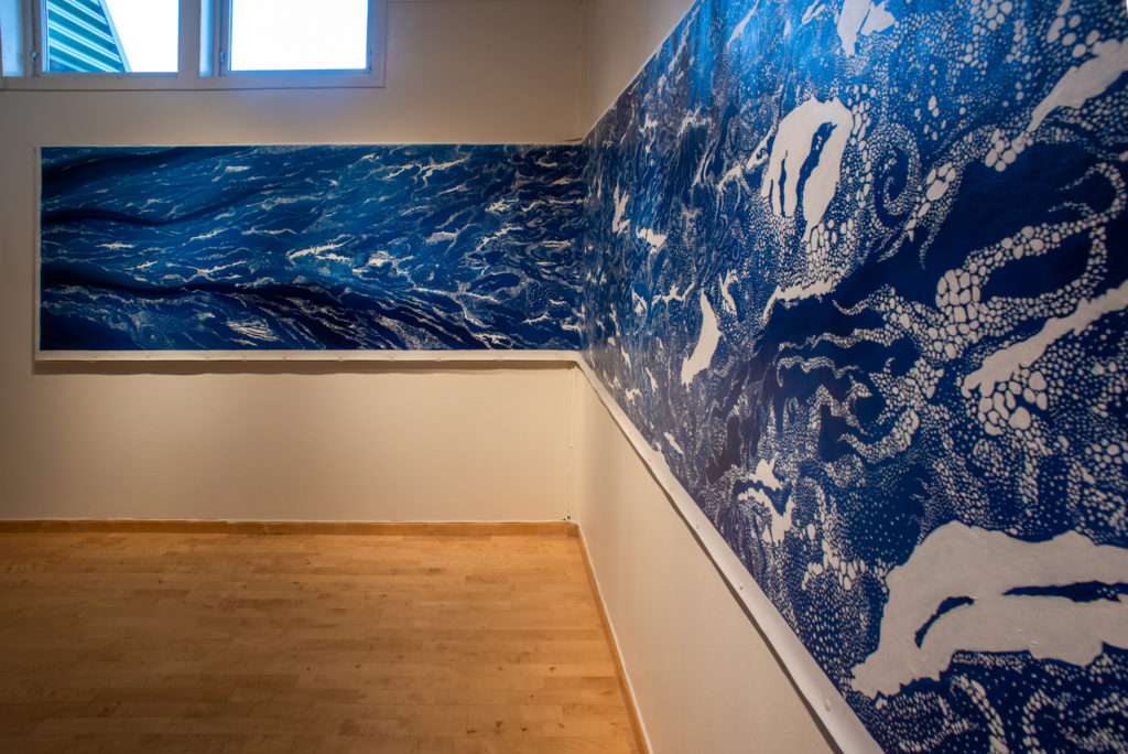 ten meter blue painting of drift ice
